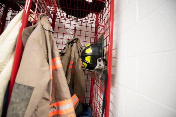 Fireman's Gear in Station Locker Room