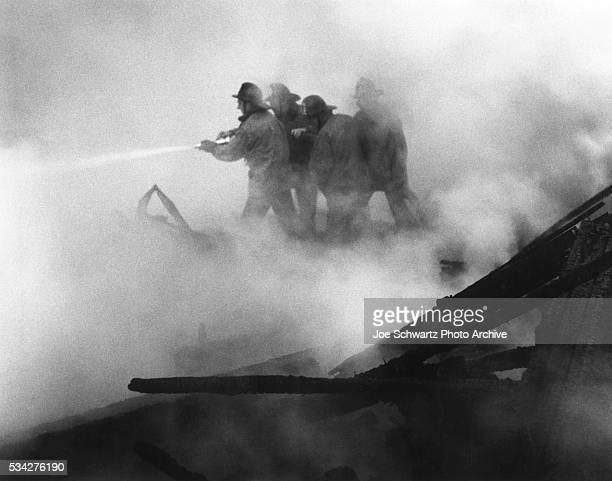 Firemen Battle Blaze