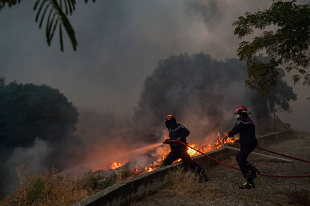 GRC: Athens Suburb Engulfed In Flames During Heatwave