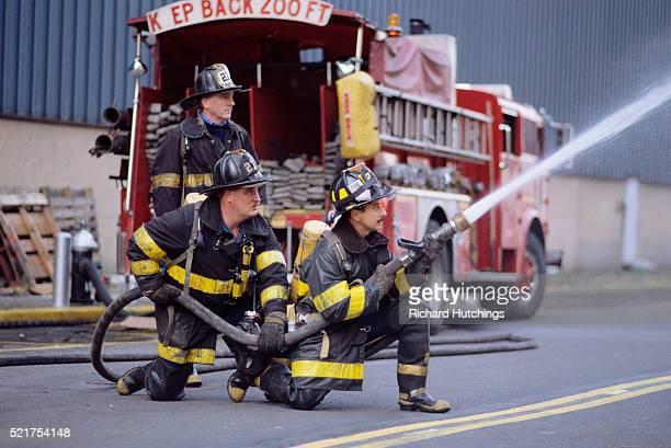 Firemen Fighting a Fire