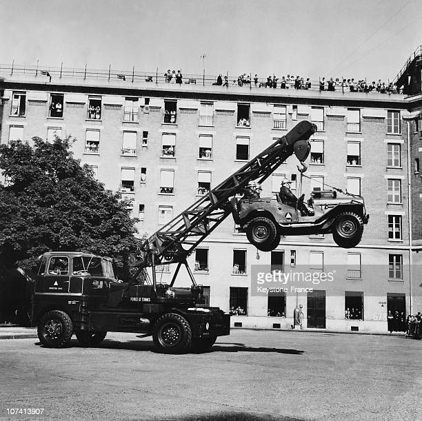 Firemen Machinery Demonstration In Paris On May 15Th 1961