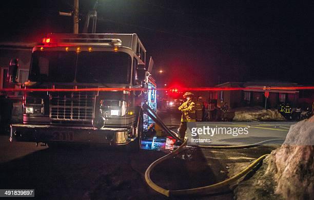 os bombeiros - fire station - fotografias e filmes do acervo
