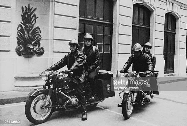 Firemen Presenting Their Equipment In Paris On December 2Nd 1970