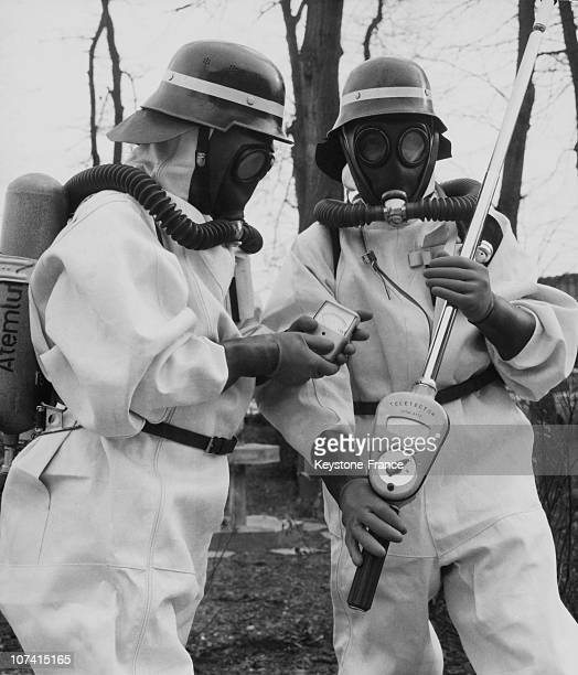 Firemen Training To Detect Atomic Radiation On February 1968 In Offenbach