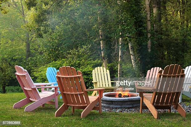 firepit - fire pit stock pictures, royalty-free photos & images
