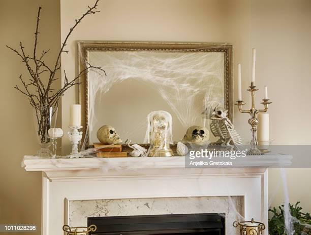 Fireplace Halloween Decoration
