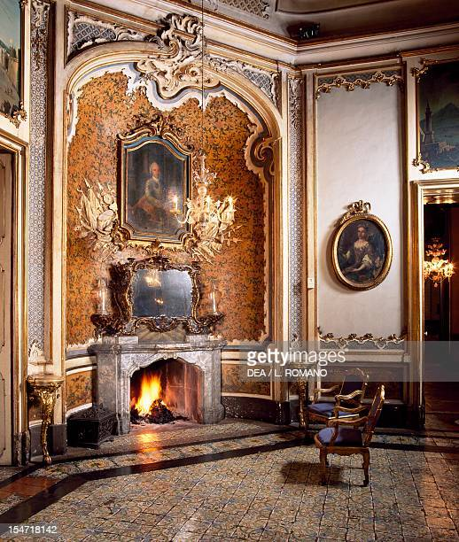 Fireplace of the Ballroom Palazzo Biscari Catania Sicily Italy 18th century