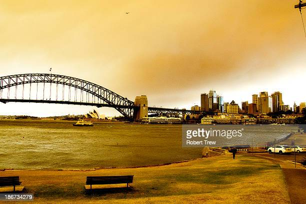 Fires in the Blue mountains effected Sydney turning the city into a glowing yellow when the worst fires in ten years in NSW started Thursday the 17th...
