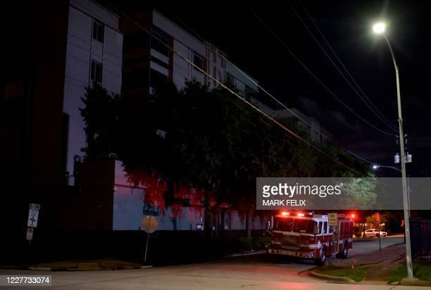 Firetruck sits outside of the Chinese consulate on July 22 in Houston after the US State Department ordered China to close the consulate. - The US...