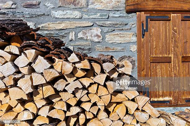 Firewood next to the house