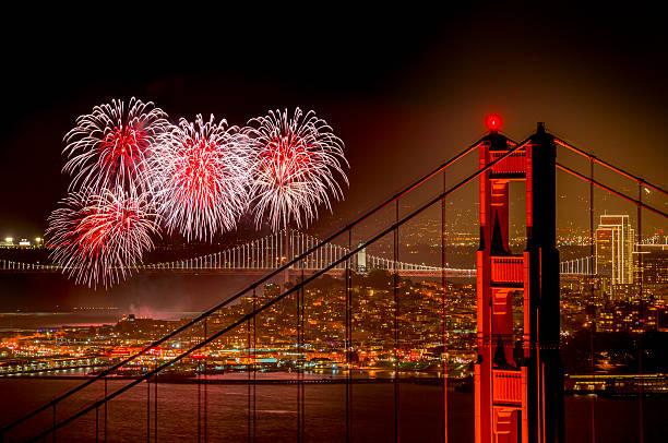 Firework At San Francisco, California Wall Art