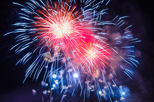 Firework Background - 4th July Independence day celebration 502776466
