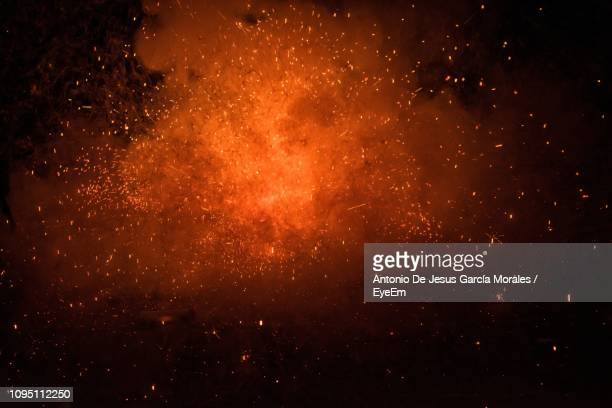 firework display at night - sparks stock pictures, royalty-free photos & images