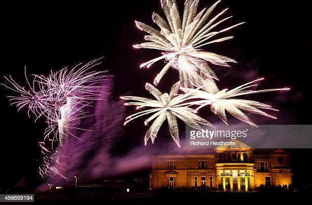 A firework display over the Royal and Ancient Clubhouse before the Dunhill Gala Dinner after the third round of the 2014 Alfred Dunhill Links...
