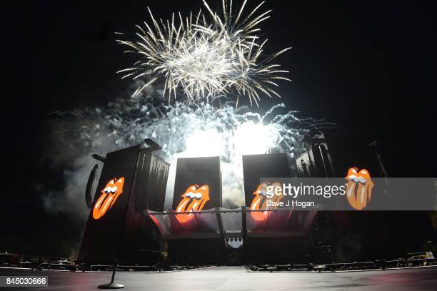 Firework finale of The Rolling Stones perform/s on the opening night of their European 'No Filter' tour on September 9 2017 in Hamburg Germany