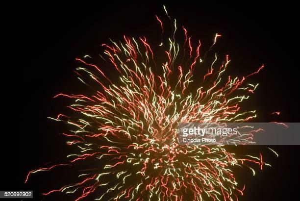 Firework for Diwali Festival Borivali Mumbai Maharashtra India Asia