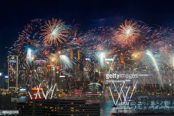 Firework Frenzy in Hong Kong