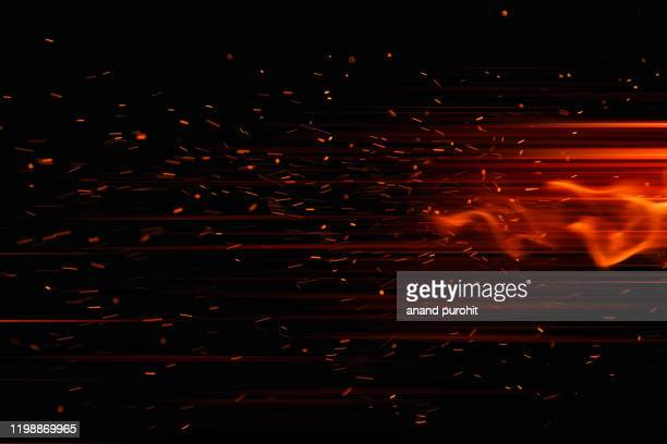 firework spark in high speed with black background - sparks stock pictures, royalty-free photos & images