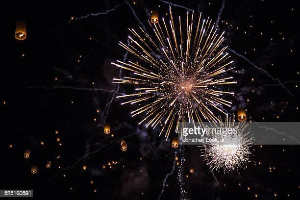 Fireworks and lanterns