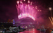 sydney australia fireworks are seen during