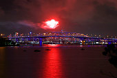 auckland new zealand fireworks are seen