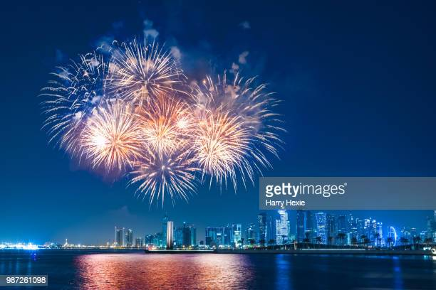 fireworks at front row - firework display stock pictures, royalty-free photos & images
