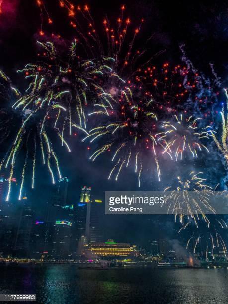 Fireworks at Marina Bay Singapore