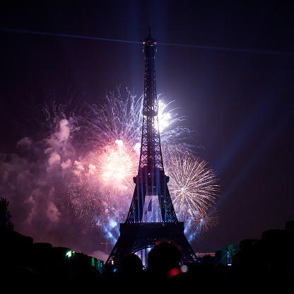 fireworks at National day of France 818796094