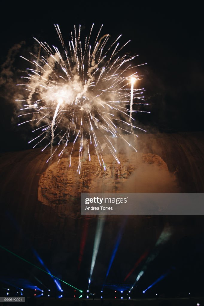 fireworks at stone mountain park stock photo getty images