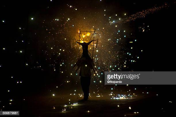 Fireworks bull, festival in oaxaca Mexico