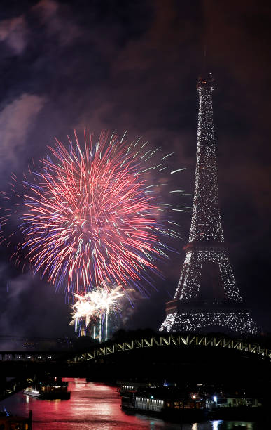 FRA: Bastille Day Fireworks At Eiffel Tower In Paris
