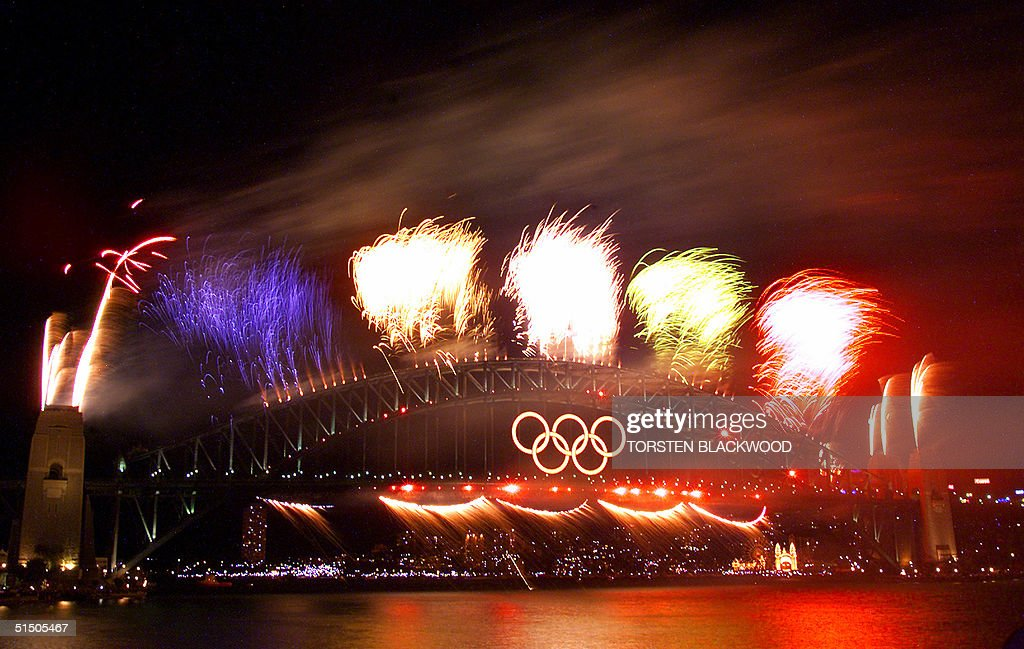 Fireworks crown the Sydney Harbour Bridge, 01 Octo : News Photo