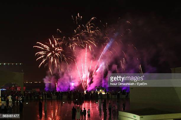 Fireworks Display At Event During Night
