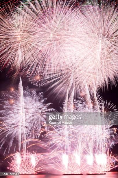 Fireworks display at night