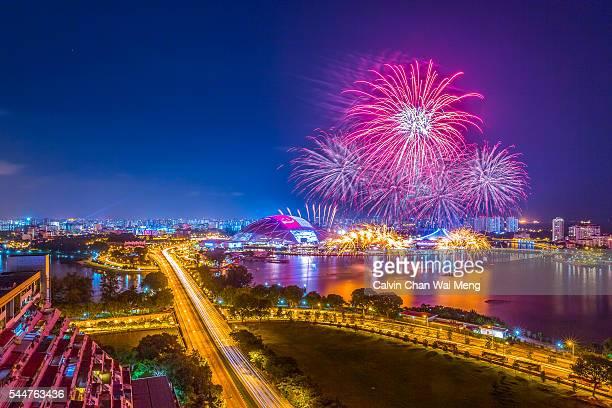 Fireworks display at Singapore Sports Hub