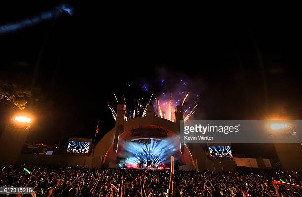 A fireworks display during CBS RADIO's fourth annual We Can Survive concert at the Hollywood Bowl on October 22 2016 in Hollywood California