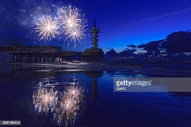fireworks display during the International Fireworks Festival at Scheveningen