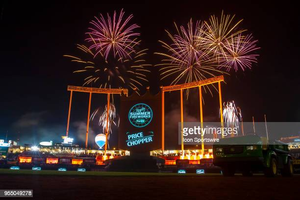 A fireworks display held post game to the Star Wars musical track after the MLB game between the Detroit Tigers and the Kansas City Royals on Friday...
