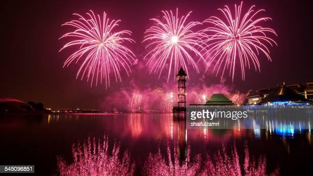 fireworks display - shaifulzamri stock-fotos und bilder