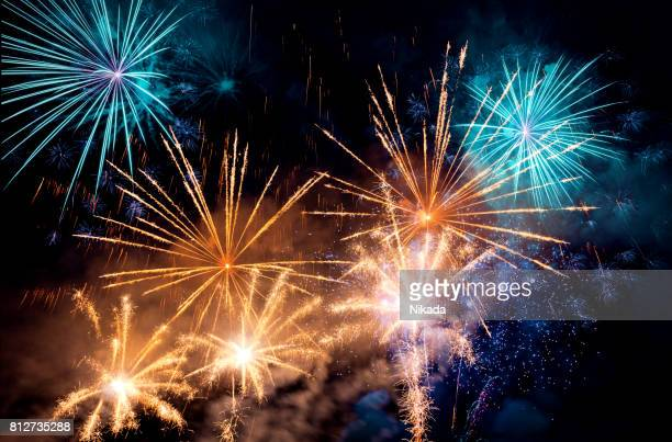 fireworks display - 4th stock pictures, royalty-free photos & images