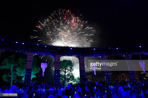 Fireworks during the 70th Monaco Red Cross Ball Gala on July 27 2018 in MonteCarlo Monaco