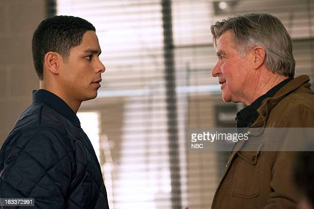 FIRE Fireworks Episode 118 Pictured Charlie Barnett as Peter Mills Treat Williams as Bennie Severide