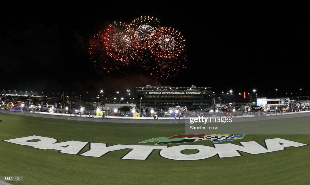 Fireworks explode around the speedway after the finish of the NASCAR Sprint Cup Series 51st Annual Coke Zero 400 at Daytona International Speedway on July 4, 2009 in Daytona Beach, Florida.