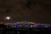 auckland new zealand fireworks explode from