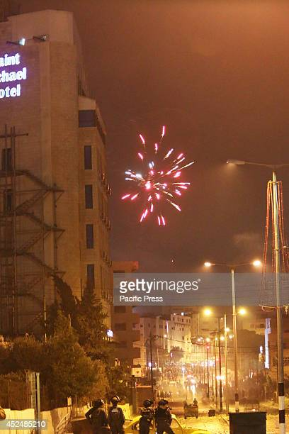 Fireworks explode over head Palestinians turned jovial on Sunday evening as word spread that Hamas' armed wing in Gaza the Izzedine AlQassam brigades...