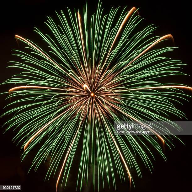 fireworks festival on tokyo bay - firework display stock pictures, royalty-free photos & images
