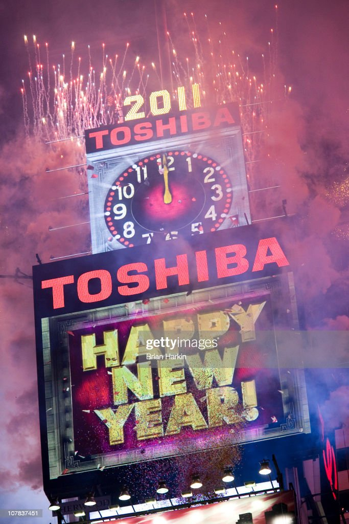 Fireworks go off at the strike of midnight in Times Square January 01, 2011 in New York City. This year a 11,875-pound Waterford crystal ball descended a 141-foot tall flagpole to mark the beginning of 2011.