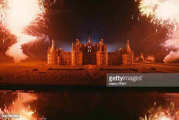 Fireworks illuminate the Chateau de Chambord