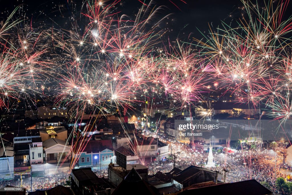 Indonesians Countdown To The New Year : News Photo