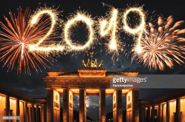 Feuerwerk in Deutschland für das neue Jahr
